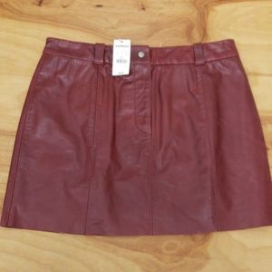 😍NWT! EXPRESS LEATHER MINI SKIRT- size 9/10